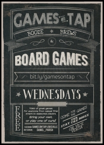 Games on Tap Flyer